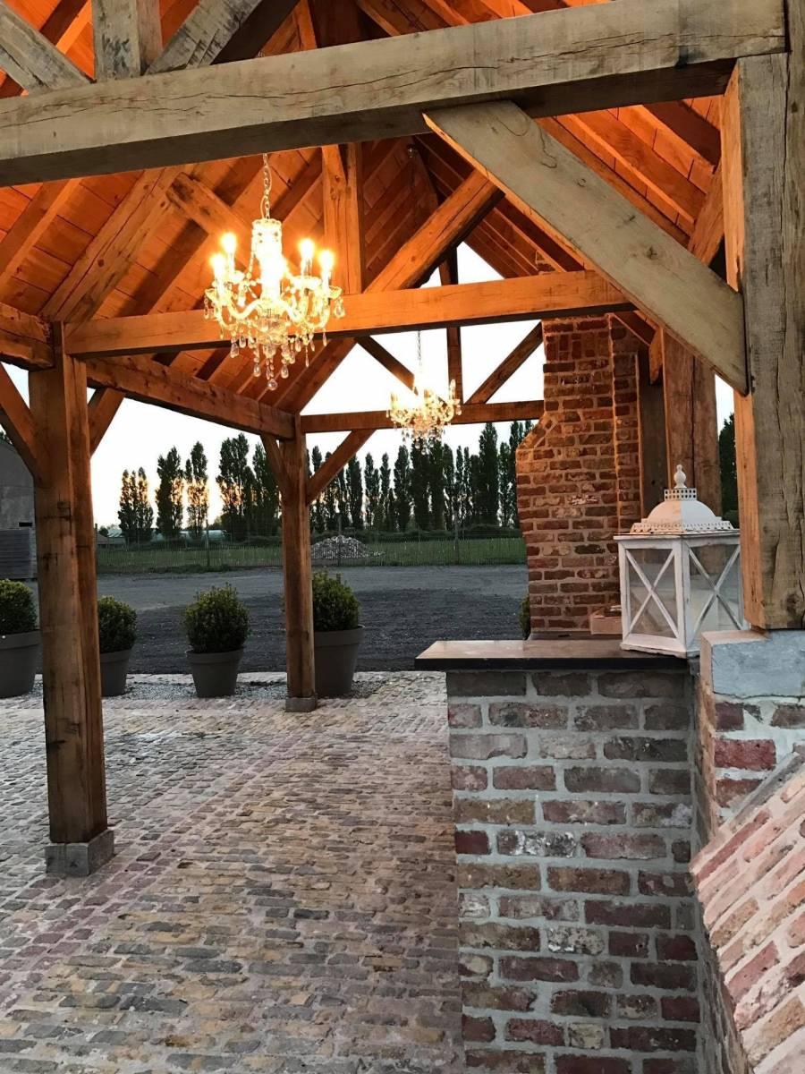 House of Weddings Domein t Eikennest Feestzaal West-Vlaanderen Diksmuide Beerst Tuin Park Vijver Tent Ceremonie Schuur pold (10)